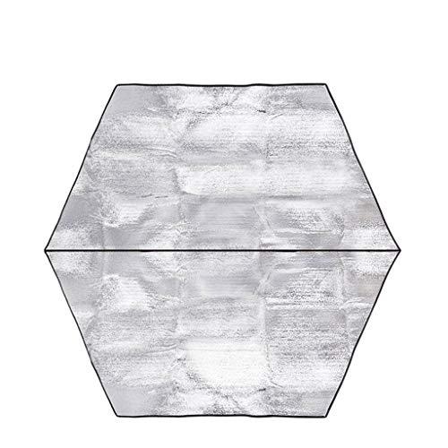 Tapis Anti-humidité épaissie Tente hexagonale Tapis de Pique-Nique en Aluminium Double Face Film Pique-Nique (Taille : 180 * 194CM)