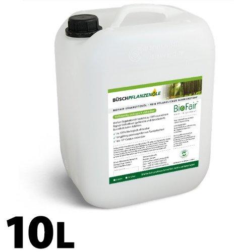 BioFair Sägekettenöl (10 Liter) aus 100% reinem Rapsöl-Vollraffinat