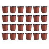 DOITOOL 100 Piezas Macetas de plástico de 9 cm para Plantas pequeña macetas de vivero de plástico para Plantas de Semillas Macetas para Flores y Plantas (Diámetro 90 Mm)