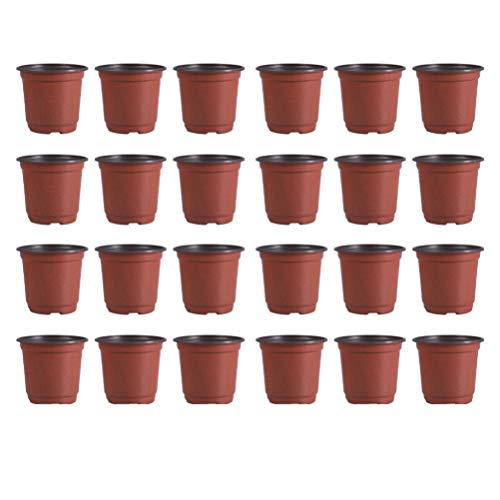 DOITOOL 100 Pezzi Vasi di plastica per Piante per La Semina di 9 cm Vasi da Fiori Contenitore per Piante da Vaso per Semi (Diametro 90Mm)
