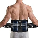 DINOKA Lumbar para la Espalda, Soporte Lumbar para Aliviar el Dolor y Lesiones, Cinturon Lumbar Prevenir Daños, Faja Lumbar para la Espalda para Hombres/Mujer con Tirantes