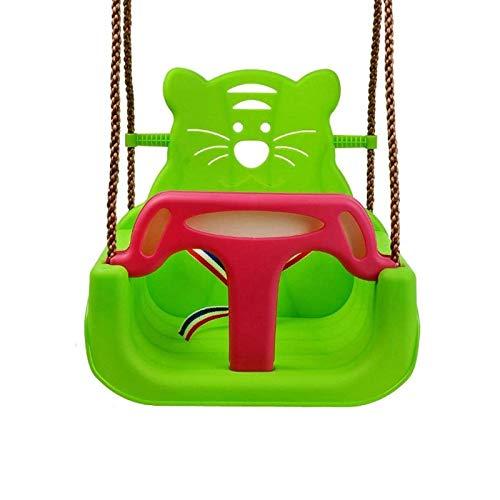 JTKDL Swing, Patio Interior o Exterior, Asiento Colgante, para fácil instalación (Color : Green)