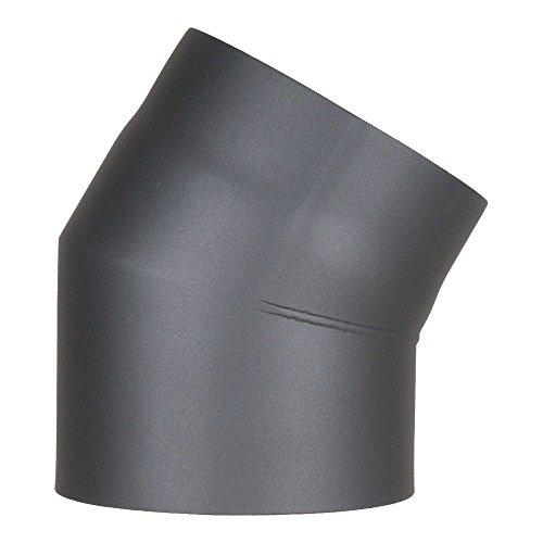 Möck Ofenrohr-Bogen 30°, doppelwandig mit Dämmung, System Primus, 120 mm Gussgrau