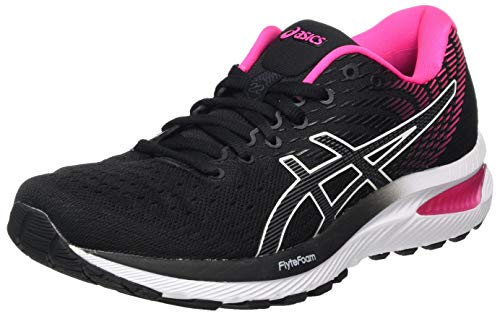 Asics Women's GEL-Cumulus 22, Black/Pink Glo, 6 UK (39.5 EU)