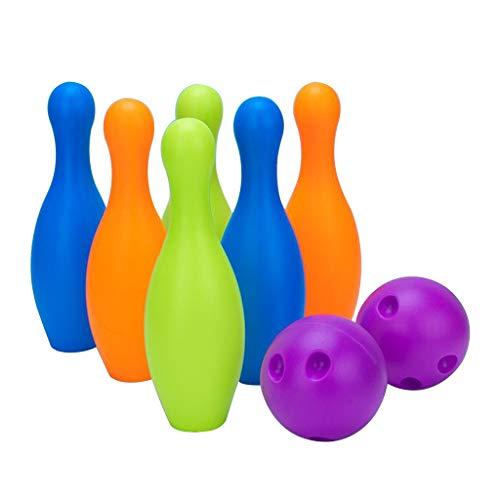 SM SunniMix Juego de Bolas de Bolos de plástico Colorido para niños de preescolares de 3 años de Juguete, Educación Temprana - 6 Pin 22cm