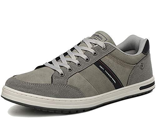 AX BOXING Freizeitschuhe Herren Walkingschuhe Berufsschuhe Sneaker Wanderschuhe Trainers(44 EU, Dunkelgrau)