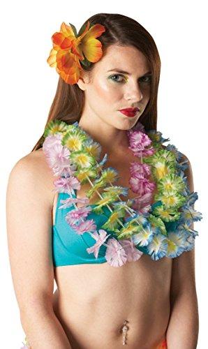 Rubies Officielle pour Adulte Hawaiian Fleur Leis – Déguisement – Bleu, Blanc et Jaune, Taille Unique