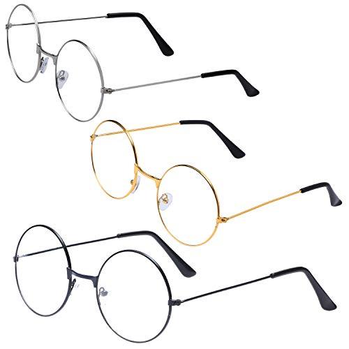 Beelittle tovenaar bril ronde draad kostuum bril oude man oma kerstman aankleden cosplay bril voor halloween chirstmas prop