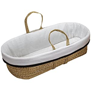 Baby Doll Bedding Forever Mine Moses Basket, Chocolate