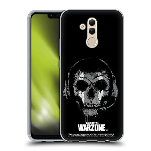 Head Case Designs Licenza Ufficiale Activision Call of Duty Warzone Fantasma Bianco E Nero Cover in Morbido Gel Compatibile con Huawei Mate 20 Lite