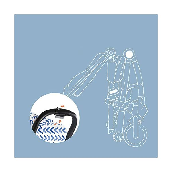 JXCC Baby Stroller, Convertible Baby Carriage, Infant Pram Stroller with Cup Holder and 5-Point Safety System -Safe And Stylish Blue JXCC 1. Can be used out of the box, no need to install, small, easy to carry, boarding, such as the size of a backpack. 2. Backboard design, with three large pieces of hard board support, moderate hardness. 3. Can sit, can move, small bed, suitable for 0-3 years old baby. 5