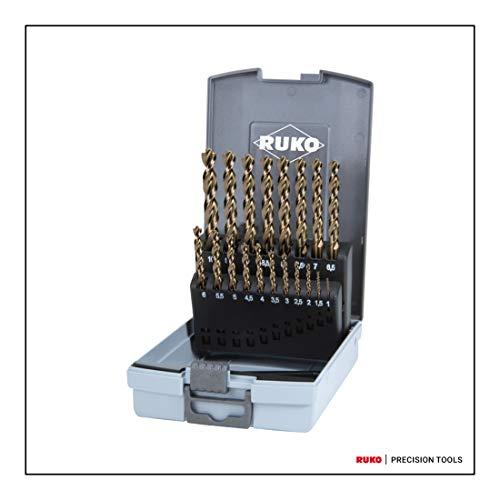Ruko spiraalboor DIN 338-TURBO, HSS-G, set 19 stuks. in kunststof doos