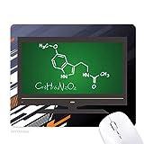 kowledge formule chimique structurale chimie tapis de souris informatique bureau de caoutchouc antidérapant.