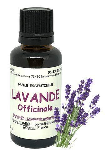 Huile essentielle de Lavande officinale ou Lavande vraie (10 ml) origine France.\