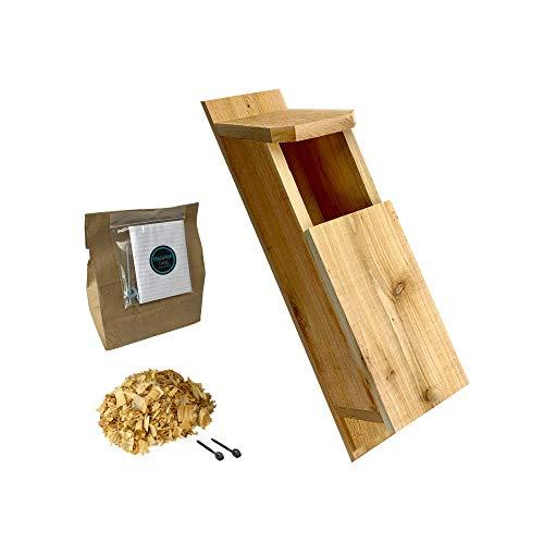 KingWood Cedar Owl House Bird House w/nesting material Owl Box Large Birdhouse Screech Owl House Kit Owl House Box For Nesting