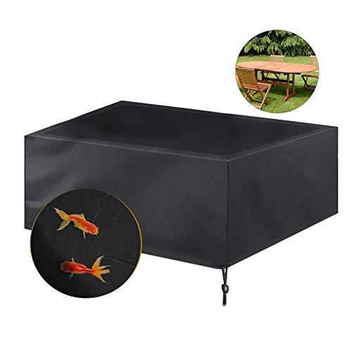 NINGWXQ Patio Furniture Cover Garden Waterproof Dust-proof beschermingszeil Waterdicht Tarpaulin, Zwart, Meerdere Maten (Color : Black, Size : 110×110×85cm)