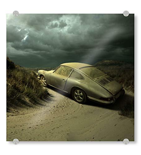 artboxONE Acrylglasbild 90x90 cm Sport/Motorsport Traurige Geschichte - Bild Porsche Carrera 911