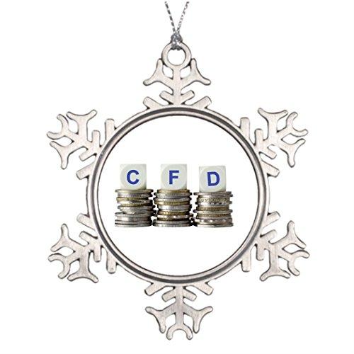 VinMea Personalisierte Weihnachts-Schneeflocken-Ornamente CFD – Contract-for Difference Garten Schneeflocke Ornament