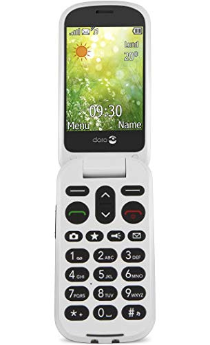 Doro 6050 - Teléfono móvil con tapa (formato concha) 3 MP, Bluetooth, 800 mAh,...