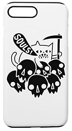 Cat Got Your Soul Custodia Per Telefono Compatibile Con iPhone 7+, iPhone 8+ Copertura in Plastica + Silicone Dura Hard Plastic Cover