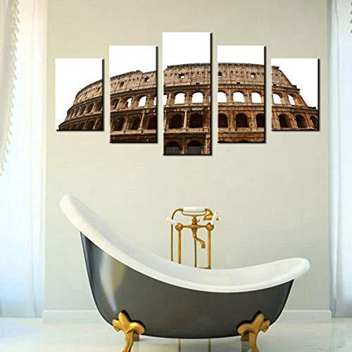 BEFUSC Wandkunst Leinwand-Wand-Kunst Colosseum in Rom Lange Haltbarkeit Kunstmalerei Wandschmuck Zuhause Leinwand auf Wandgemälde kann als Hintergrund Wand zum Büro verwendet Werden