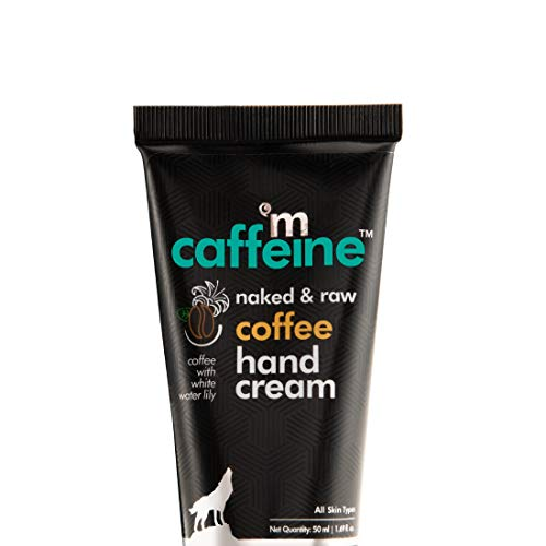 mCaffeine Naked & Raw Coffee Hand Cream | Mattifying | Almond Oil, Shea Butter | All Skin | Paraben & Silicone Free | 50 ml