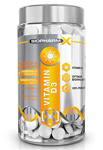 Maximum Strength 4000+ IU Vitamin D3 (1 Year Supply - 365 Tablets) 100% Pure Certified/Maximum Strength Vitamin D Cholecalciferol