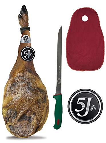 Paleta 100% Ibérica de Bellota Cinco Jotas - 5J - Cubre Jamon JamonOnline y Cuchillo de Regalo.