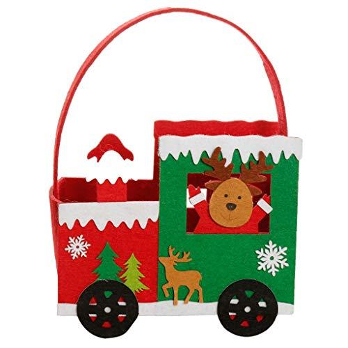 Dibor - Bolsa de Tela de Fieltro para Caramelos de Navidad, Fieltro, Reno, H26 x W19.5 x D10.5cm