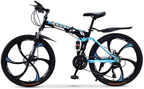 Purchase HongLianRiven BMX Mountain Bike, Folding 26 Inches Carbon Steel Bicycles,Double Shock Varia...