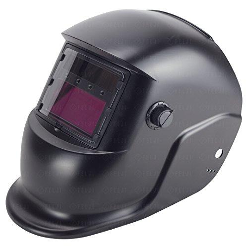 Felji Pro Solar Welder Mask Auto-Darkening Welding Helmet Arc Tig Mig Grinding, Black