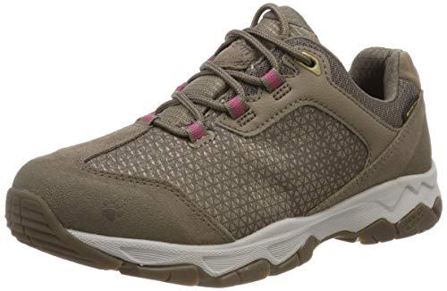 Jack Wolfskin Rock Hunter Texapore Low W Wasserdicht, Chaussures de Randonnée Basses Femme, Beige (Siltstone 5116), 42.5 EU