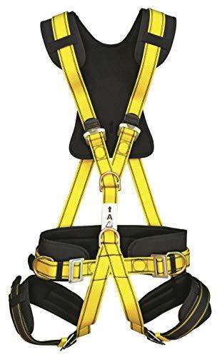 IMBRACATURA ANTICADUTA comfort PROFESSIONALE: 4 punti d'ancoraggio CE sospensione in aria, rock climbing, protezione sicurezza personale, cintura, imbracatura tessile anticaduta via ferrata