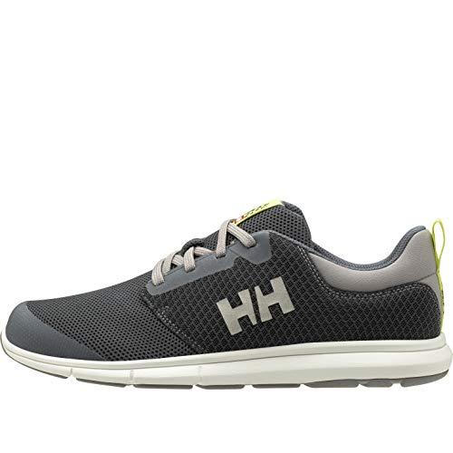 Helly-Hansen Mens Feathering Sailing Shoe, 964 Charcoal/Ebony/New Light Grey, 10