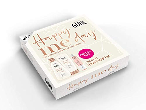 Guhl Happy Me Day Winter Repair Edition Vorteilsset - Shampoo, Conditioner und Haarparfum, 800 g