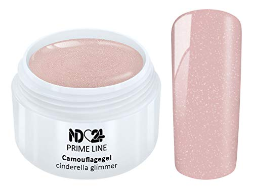 Prime Line - Uv Led Gel Make Up Camouflage Cinderella Glimmer Aufbau - Made in Germany - 5ml