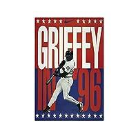 Weuewq ケングリフィージュニアグレート野球選手ポスター絵画背景壁アート写真装飾リビングルームホームギフト-20X28インチフレームなし