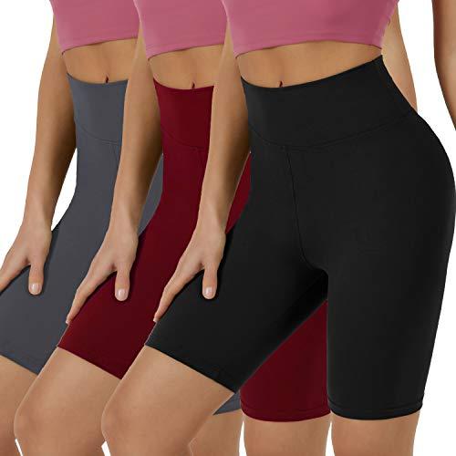High Wasit Biker Shorts (3 Pairs)