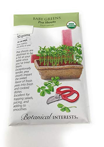 Botanical Interests, Seed Baby Greens Peas for Shoots Organic
