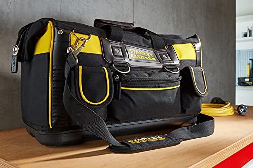Stanley FatMax Werkzeugtasche / Transporttasche (50x30x29cm, schlagfester Boden, Aufbewahrungstaschen im Inneren, große Öffnung für leichten Zugang, aus robustem Material) FMST1-71180 - 8