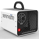 SereneLife 10,000mg/h Compact Ozone Generator - Commercial Ozone Generator Portable Industrial Ozone Deodorizer Sterilizer Odor Eliminator Machine, Up to 2000 Sq Ft Coverage - SLOZOGEN100