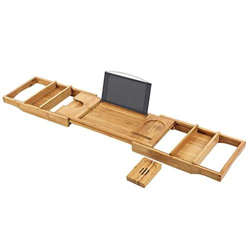 WCYDRUM Bath Tray Bundle with Bath Pillow And Soap Holder Bamboo Bath Caddy Adjustable Bathtub Tray Suitable As A Bath Shelf Bath Rack Or Bath Table
