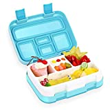 kids lunch box bento box for kids come2look bpa-free leak proof 5-compartment lunch container with