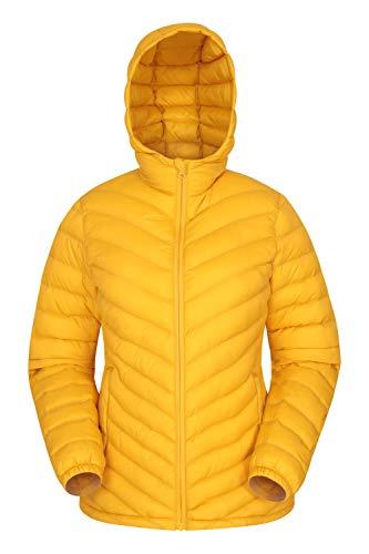 Mountain Warehouse Seasons Gefütterte Damenjacke - Wasserbeständige Winterjacke, Fronttaschen, verstellbare Bündchen und Kapuze mit Elastik Gelb 44