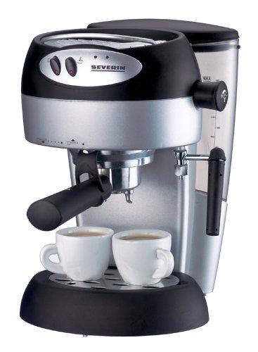 Severin KA 5982–Macchina per espresso, Argento/Nero