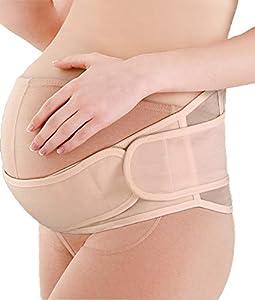 SOFIT Schwangerschaft Gürtel, Bauchbänder für Schwangere Gürtel, Bauchstütze gegen Bauch, Schwangerschaft Stützgürtel, Mutterschaft Gürtel Verstellbare & Atmungsaktivem (Beige)