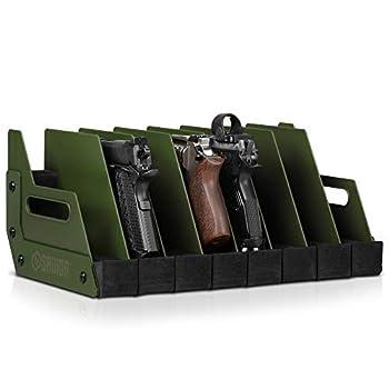 Savior Equipment Gun Pistol Revolver Firearm Handgun Rack Stand Fit 8 of Most Long-Barreled Pistols Cushioned Foam to Protect Gun Safe Cabinet Storage Organizer Accessories