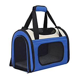 Kosttapaws Pet Carrier, Airline Approved Dog Carrier, Small Medium Cat Carrier, Portable Breathable Pet Travel Carrier, Collapsible Soft-Sided Mesh Puppy Carrier for Small Medium Dogs