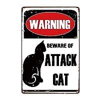 ペットサインメタルアニマルティンサインヴィンテージプレート用ウォールアートレトロホームインテリア30X20CM猫のない家はただの家,10