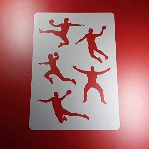 Schablone Handball Sport Handballer - BA76